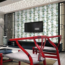 non woven decorative wallpaper with a pattern of bamboo