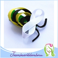 Bumble Bee Hair Clip Set , sculptured hair clip accessories ,Handmade baby girl Clippies