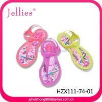 Children crystal pvc jelly sandals