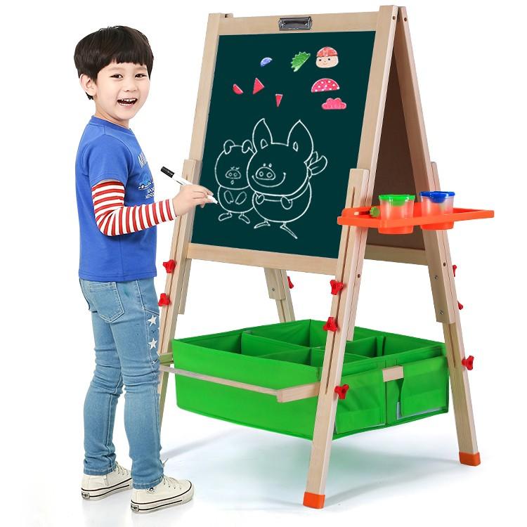 bluetuu deux face enfants bois jouets de tableau peinture. Black Bedroom Furniture Sets. Home Design Ideas
