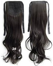 2015 popular tie up synthetic ponytail body wave