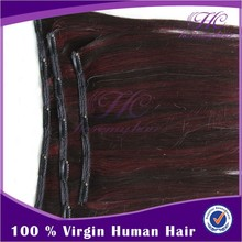 Best Selling Retail Items red Grade 5A 6A 7A Remy Hair Clip In Hair Extension For White Women