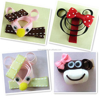 Quality new coming flower hair claw ribbon sculpture clips