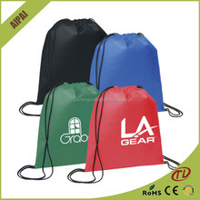 Custom produce Hotsell nylon polyester drawstring bag backpack