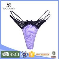Hot Sale Breathable Mature Women Lace Micro Mini Thong