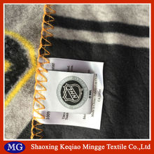 one side anti pilling Polar Fleece Blanket with offset printing logo
