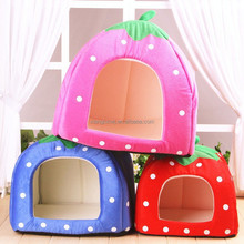FOLDABLE Strawberry Pet Kennel Cozy Dog Cat Puppy bed Durable House 3COLOR S/M/L