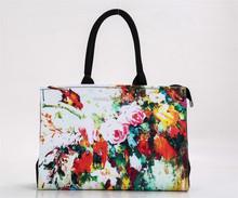 digital print bags manufactory fashion vivid digital print cotton tote girls bag