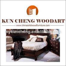 Estilo francés provincial de madera maciza cama/alibaba caliente de venta de antigüedades camas de madera sólida