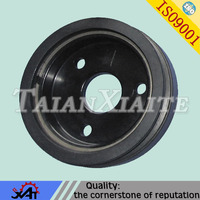 High performance fored ductile iron diesel belt pulley for engine parts OEM service