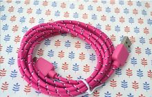Popular Design Fabric Bradied Shiny Flat micro usb cable made in China