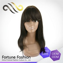 Customized Oem Factory Direct Price Soft And Luster Cheap See All Hurman Lace Front Wigs With Bangs