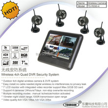 Outdoor 4CH Digital wireless sd card cctv camera with memory card
