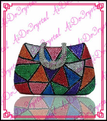 Aidocrystal geometric pattern diamond italian trendy double use banquet bag for ladies