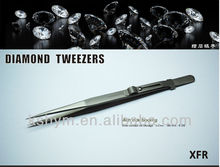 XFR 160mm stainless steel tweezers for diamond