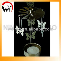 2013 Hot-selling handmade Butterfly Shape Metal Tealight Candle Holder