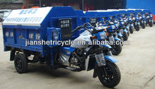 Jianshe new design cleaning cargo tricycle with cabin