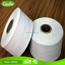 Cnlucky factory Ne3s to NE30s recycled oe white cotton yarns for knitting