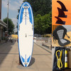 hot sale white blue stand up paddle longboard with kayak seat
