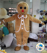 Gingerbread Man mascot costume /bread costume for activity