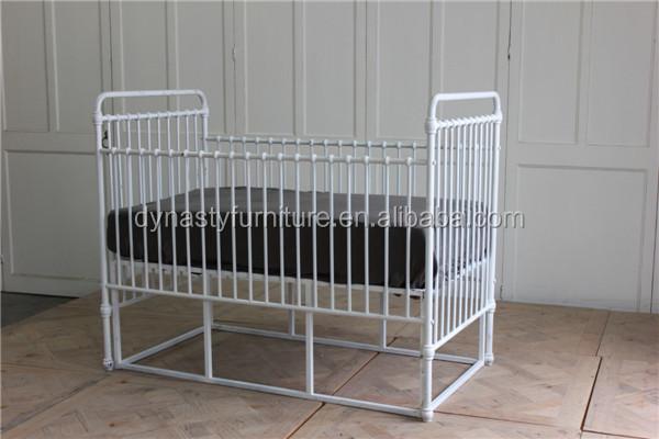 Antiguo industrial metal muebles de dormitorio bebé cama diseño ...