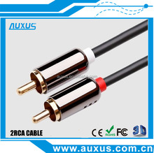 2 RCA to 2 rca av output cable from china OEM factory with good design copper shell