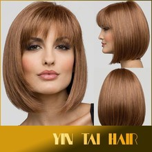 2015 Japanese Kanekalon Fiber Fashion Women Hair Wigs Heat Resistant Synthetic Bobo Blonde Short Straight Hair Wigs Cosplay Wigs