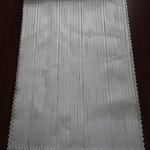 Different kinds of polyester stripe white tulle chiffon window curtain fabric from China