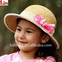 Children fashion beige paper hat