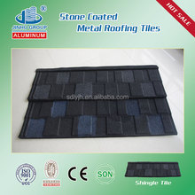 Building material decorative colorful waterproofing sand coated metal roof manufacture