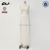 2015 beautiful women long white muslim wedding dress