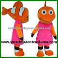 Vente directe facoty clown. poisson clown mascotte en peluche costume costume de poisson pour la vente