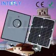 China, famosa fuente de la fábrica Intefly alto brillo energía energía solar poste de luz de la calle