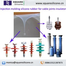 two component compound silicones with low viscosity for cable accessories arrester