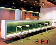 Manufacturer Acrylic Stone night club bar counter/Modern Artificial bar counter LED/home bar counter design