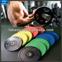 100% rubber bumper weight plate gym barbell plates