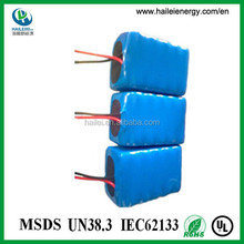 Hailei 22000mah rechargeable lithium battery pack 12v