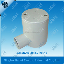 AS/NZS 2053 electrical conduit pipe1 way entry junction box , Australian standard pvc electrical pipe junction box 20mm