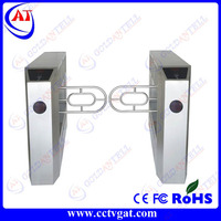 CE certificate 304#stainless steel security bi-directional automatic turnstile gate with barcode access control