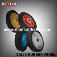 "lawn mower use steel rim 6"" solid rubber tyre / 6"" solid wheel"