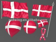 2012 Denmark National Country Car Flags