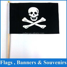 2015 12''x18'' product promotional hand flag with pirate