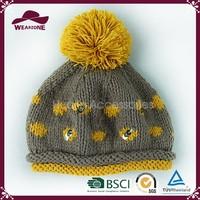 Superior quality crochet hat , children beret hat, warm knitted hat
