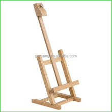 Professional Lightly Stained Wood Easel For Artist Using