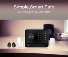 New WIFI home alarm system,easy installation and easy operation smart device with RFID function
