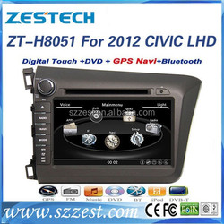 Touch screen car dvd player for Honda civic 2012 left hand drive best selling auto parts car dvd with gps