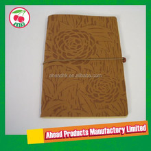 Embossed pattern Leather cover notebook