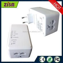 ZISA PA 500W 500Mbps WiFi Wallmount powerline Adapter