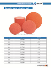 Hot sale rubber sponge cleaning ball for Schwing concrete pump