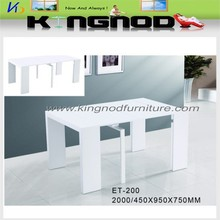 factory direct sale high gloss extension dining table